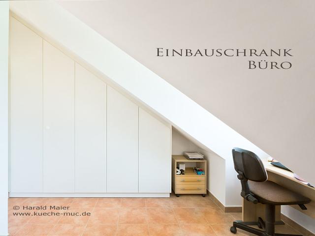 einbauschrank f r ein b ro mit dachschr ge planen einbauen m nchen. Black Bedroom Furniture Sets. Home Design Ideas