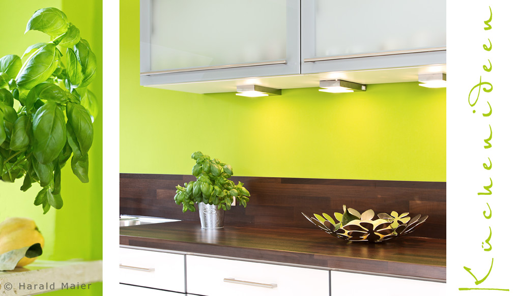 Neue kueche farbgestaltung f r die wand gruene wandfarbe for Farbgestaltung kuche wand