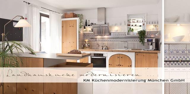 landhauskueche fronten erneuern und helle fliesen f r den boden. Black Bedroom Furniture Sets. Home Design Ideas