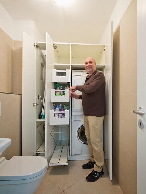 Schrank Waschmaschine Trockner planen einbauen Harald Maier München